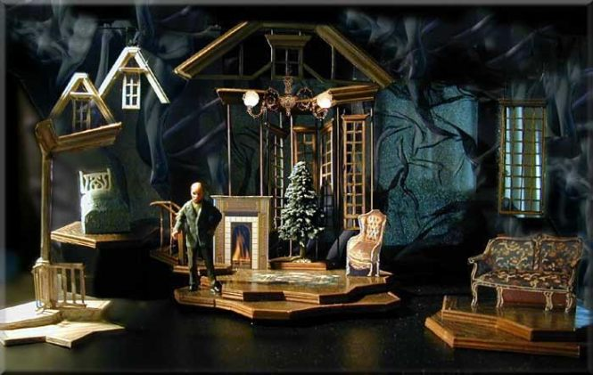 A Child's Christmas in Wales - Winter 2000 production for The National Theatre of the Deaf. The Set Design is by Richard Finkelstein. This adaptation of the work of Dylan Thomas, is by Burgess Clark, with direction by Peter Flynn