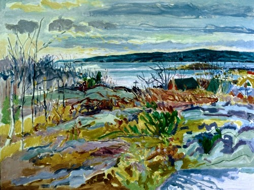 """View from the Ledge"" 1975. Nell Blaine (1922-1996)"