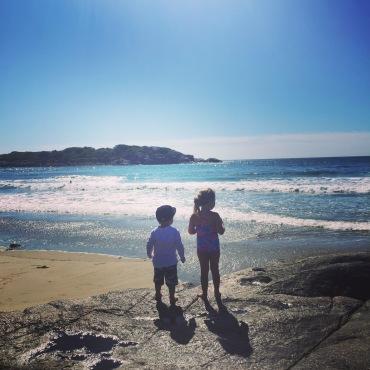 Emmy and Ryder Kai Sanborn. Good Harbor Beach .