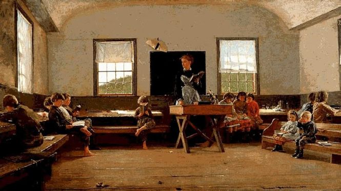 The Country Schoolroom. 1871. Winslow Homer (1836-1910)