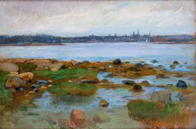 Horizon at Gloucester c. 1905 Frank Duveneck (1848-1919) Courtesy Cape Ann Museum