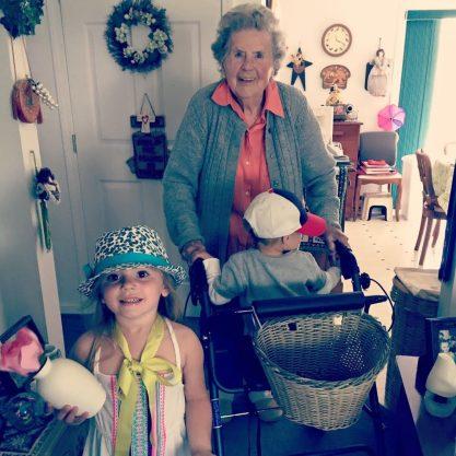 Emmy & Ryder Sanborn and her great-grandmother Millie Sanborn.