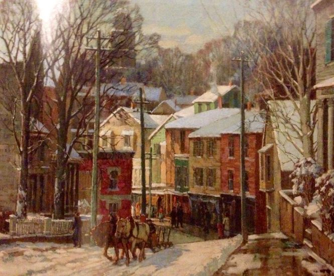 Winter in Gloucester Frederick Mulhhaupt (1871-1938)
