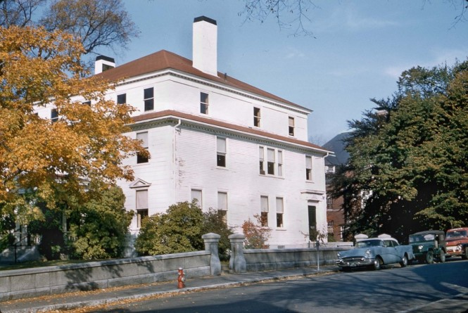 The Saunders house in October of 1958 before the addition of the Monell building. Harold Dexter photo, courtesy of Dawn Dexter and CAM