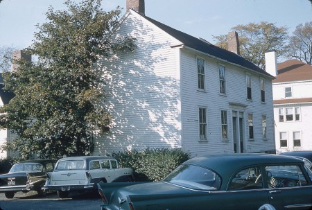 This small but antique duplex house stood on the corner of Dale Avenue and Warren Street facing City Hall. It was removed at an unknown date but was still there in 1958 when Harold Dexter photographed it. Photo courtesy of Dawn Dexter and CAM.