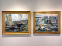 Scenes from the Charles Movalli exhibition at the Cape Ann Museum. 2